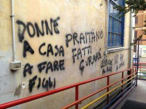 scritte_omofobe_contro_attivista_glbt_candidata_in_campidoglio_rossana_praitano_1
