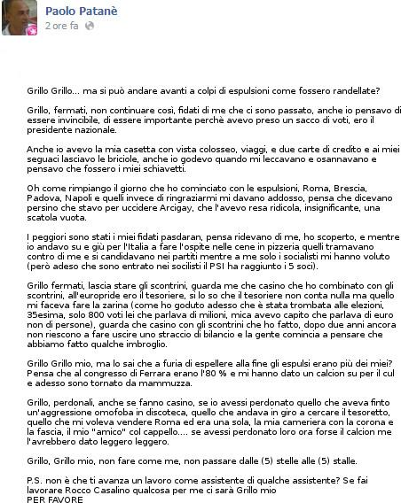 PATANE GRILLO